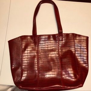 NEIMAN MARCUS RED TOTE BAG